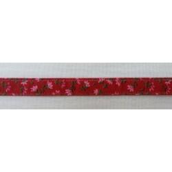 Virágos szalag piros