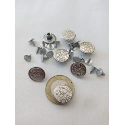 Farmer gomb közepes ezüst 7