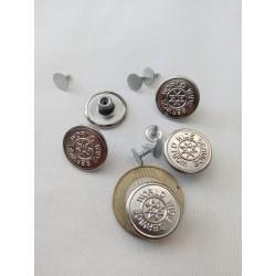 Farmer gomb nagy ezüst 9