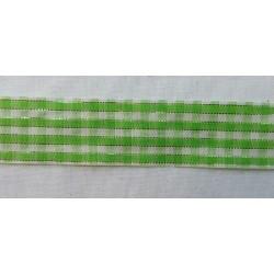 Zöld csillogós kockás szalag