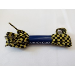 Fekete-citrom kockás cipőfűző