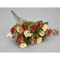 Rózsa csokor krém-piros