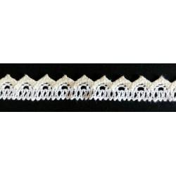 Pamut csipke 46 fehér-ekrü